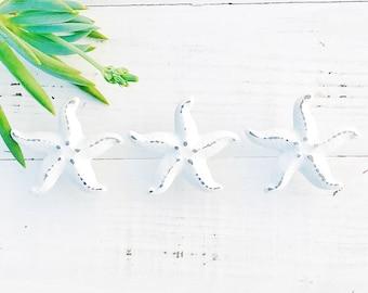 Nautical Starfish Knobs/ Knobs/ Starfish Knobs/ Nautical knobs/ Beach Knobs/ Starfish Cabinet Knob/ White Starfish Knob/ Costal Decor