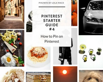 How to Pin on Pinterest Guide. Step by Step Printable PDF Pinterest Tutorial. 4 of 5 Pinterest Social Media Guides for Beginners | P14