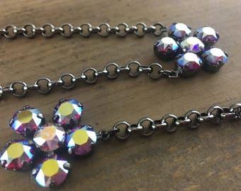 8.5mm Fuchsia AB Swarovski Crystal