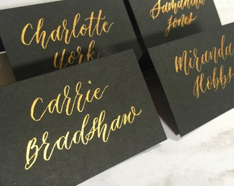 Place Cards / Escort Cards with Custom Calligraphy - Slim Style