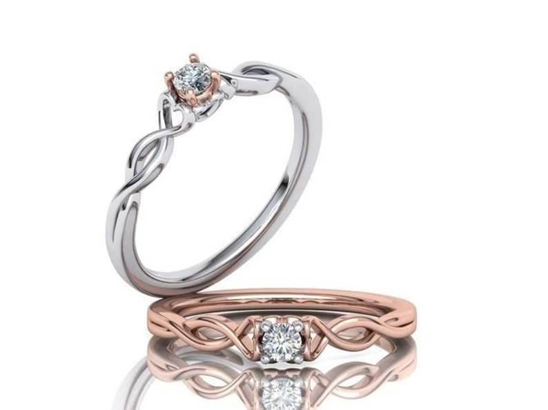 Green Gold Rose Gold Plating /& Silver* Wedding Band Women Promise Veronica Engagement Ring *Moissanite With 10k14k18k White Yellow