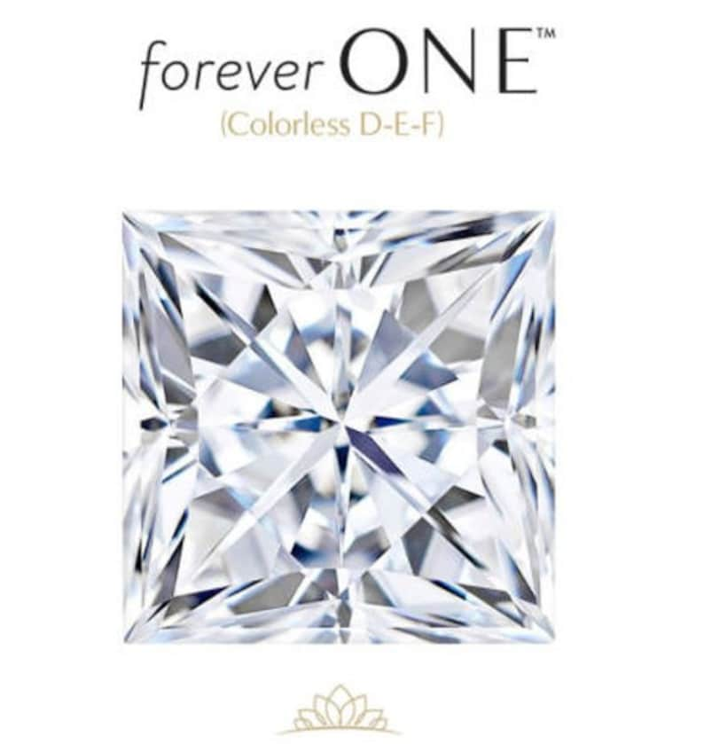 Princess Cut Moissanite - Charles and Colvard Forever ONE - D-E-F - GIA  Certified - Colorless - Loose Gemstone *Wholesale Prices* Diamond