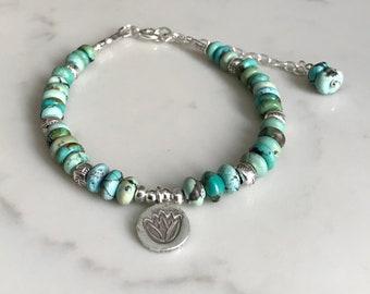 Thai hill Tribe Silver 24k gold vermeil bracelet Beautiful green jade Jade jewellery B374