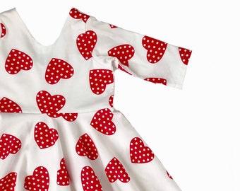 4c83ace84 Valentine Twirl Dress / Valentine Dress / Heart Twirl Dress / Toddler Twirl  Dress / Girl Twirl Dress / Baby Twirl Dress / Valentine's Dress