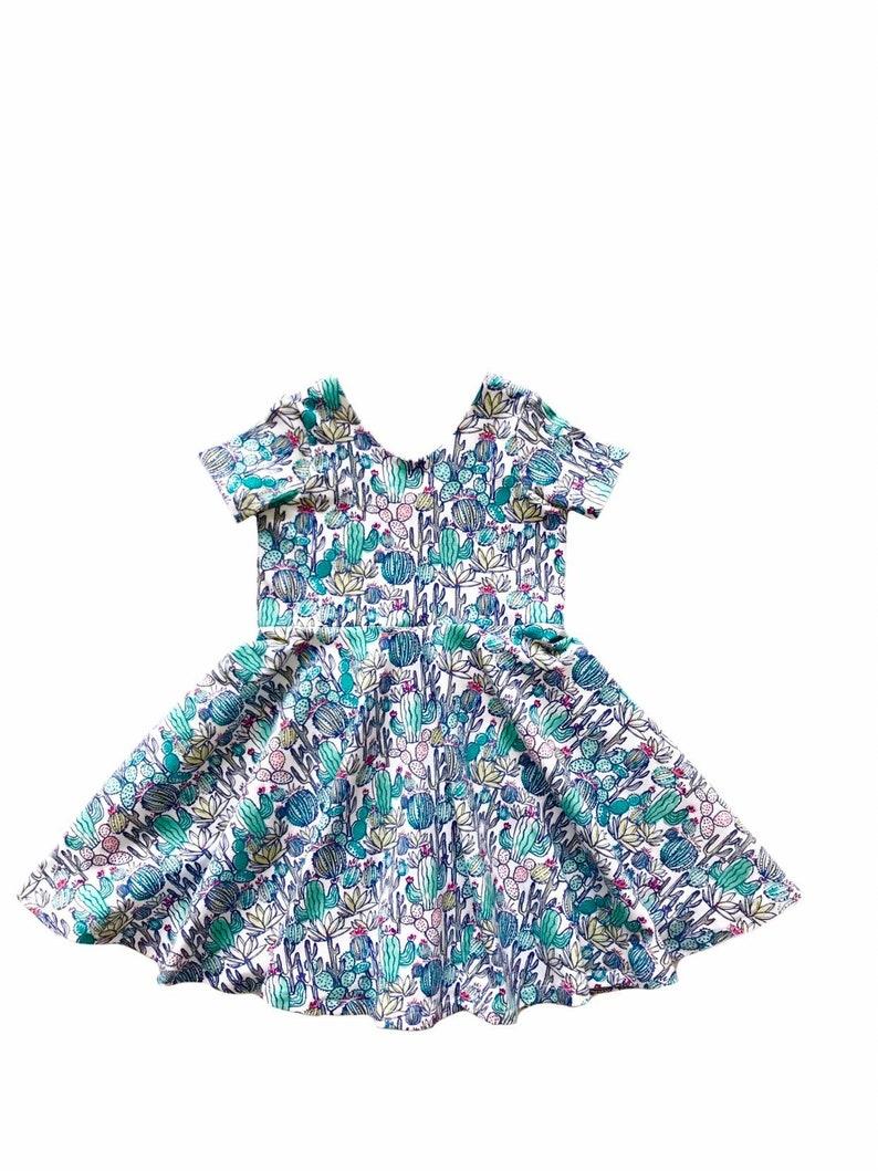 7a31552c245 Summer Twirl Dress   Cactus Dress   Succulent Twirl Dress