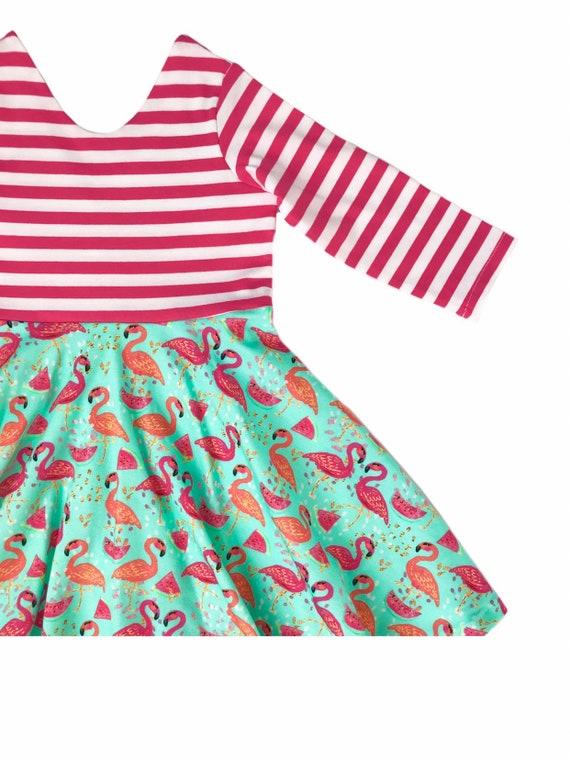 b330f994de3 Summer Twirl Dress   Flamingo Dress   Sleeveless Twirl Dress