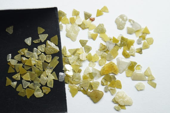 White Rough Diamond 1mm To 3mm Approx DS0011 Natural White Diamonds 20 CTW Clear white Diamond Slices Raw Diamond Chips Uncut Diamond