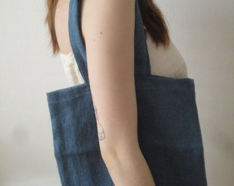 stonewashed colored hemp HAND / SHOULDER BAG, hand-made from very heavy and rough stonewashed hemp in different colors