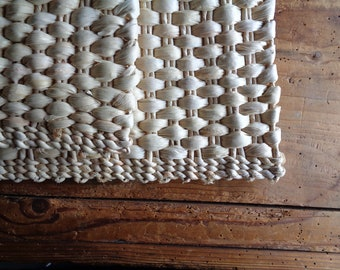 hand-woven FLOOR MAT / RUG, hand made from natural husk // eco, sustainable