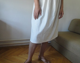 soft linen SKIRT (short, midi, long / with pockets or without ), handmade from midi weight linen in creme or other colors
