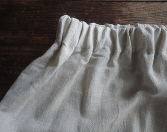 soft hemp SKIRT (short, midi, long) wit elastic waist, made from heavy soft hemp in natural color