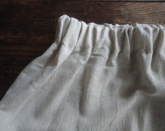 Featured listing image: soft hemp SKIRT (short, midi, long) wit elastic waist, made from heavy soft hemp in natural color