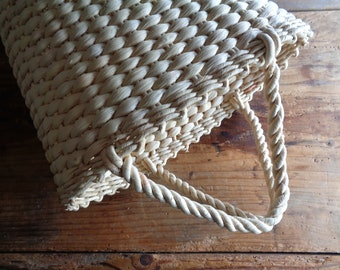 handwoven MARKET / SHOPPING bag / basket with handles _ cone, handmade from natural husk // eco, sustainable