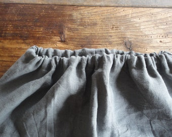 simple heavy linen SKIRT (short, midi, long) with elastic waist, made from heavy linen and cotton yarn in different colors