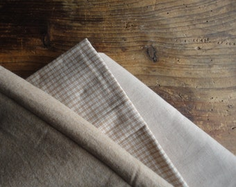 brown organic cotton DUVET / PILLOW / SHEET (flat or fitted), hand made from cooling or warming organic cotton in brown // eco, sustainable