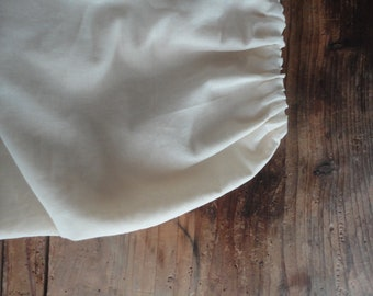 raw cotton SKIRT (short, midi, long), handmade from light raw cotton in two plies // off white, beige, creme