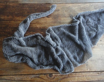 knitted hemp - cotton SCARVE / SHAWL / WRAP (triangle), knitted from very soft cotton-hemp mix in different colors