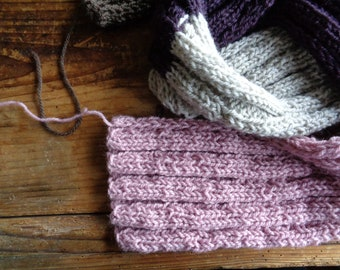 very soft and wide wool SHAWL / SCARVE , hand knitted from very soft natural wool in different colors and / or color combinations