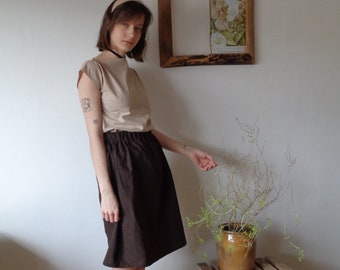 OUTFIT 9 // autumn 2020: heavy ramie-cotton skirt + organic cotton top with belt