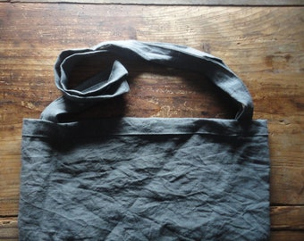 linen SHOULDER BAG, hand-made from heavy linen in different colors