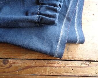 organic cotton jeans SKIRT (short, midi, long) with elastic waist, handmade from soft light  organic cotton jeans
