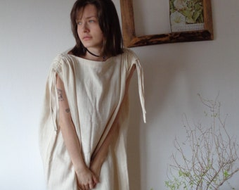 OUTFIT 12 // autumn 2020: heavy organic cotton double gauze dress with ties