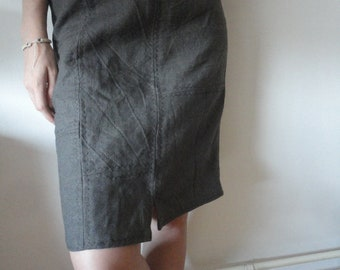 patched linen SKIRT (short, midi, long), handmade from heavy linen in different colors