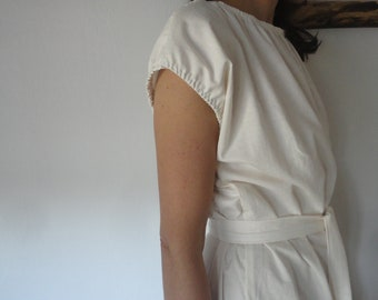 soft linen DRESS (short, midi, long ) with baloon sleeves, made from soft midi weight linen in different colors