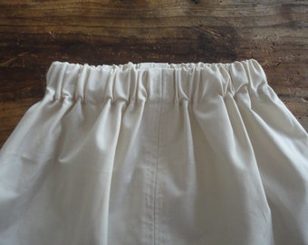 simple raw cotton SKIRT (short, midi, long / with pockets or without ), handmade from raw cotton in off white