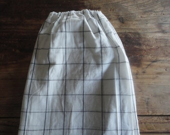 simple light cotton SKIRT (short, midi, long) with elastic waist, made from light raw cotton in different colors / patterns