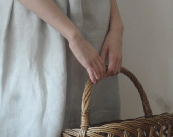 soft linen SKIRT (short, midi, long / with pockets or without ), handmade from soft linen in different colors