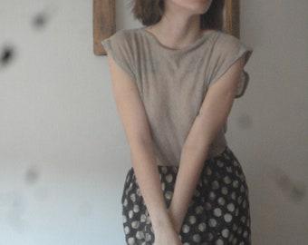 OUTFIT 10 // summer 2020: simple cotton skirt + linen jersey top