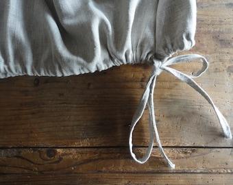 melange linen SKIRT (short, midi, long), hand-made from melange heavy linen
