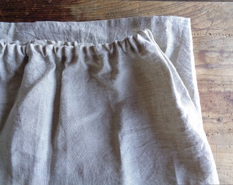 simple linen SKIRT (short, midi, long) with elastic waist,  handmade from soft light linen in different colors
