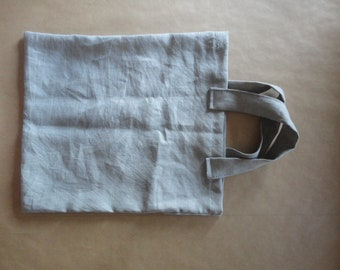 linen TOTE / MARKET BAG _ narrow, hand-made from heavy weight linen in different colors