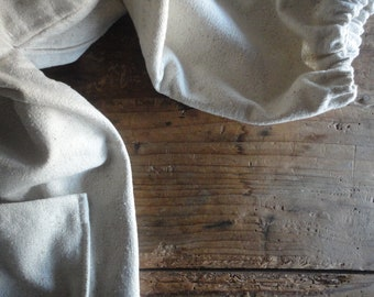raw / wild silk JACKET / COAT or VEST (with zipper and front or side pockets or without), handmade from rough wild / raw silk in off white