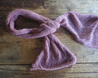 knitted hemp - cotton SCARVE / SHAWL / WRAP (straight), knitted from very soft cotton-hemp mix in different colors