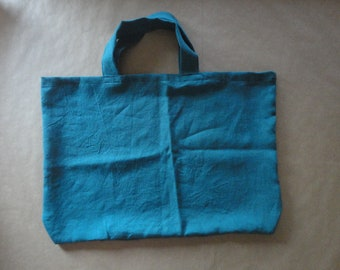 colored linen MARKET BAG / SHOPPER, hand-made from heavy weight linen in natural, white or other colors