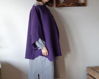 OUTFIT 8 // winter 2020: double gauze dress + wool felt poncho