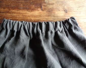 wide heavy linen SKIRT (short, midi, long) with pockets or without), handmade from heavy linen in different colors