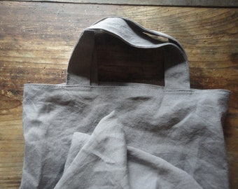 stonewashed linen SHOULDER BAG, hand-made from soft stonewashed linen in different colors
