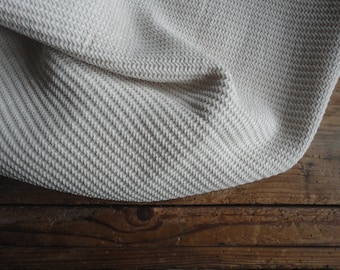 raw cotton BLANKET / THROW _ waffel / pique, handmade from raw cotton waffel / pique in creme / beige / off white // eco, sustainable