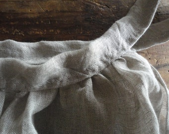 linen gauze DRESS (summer, sleeve less), hand made from very light linen gauze in different colors