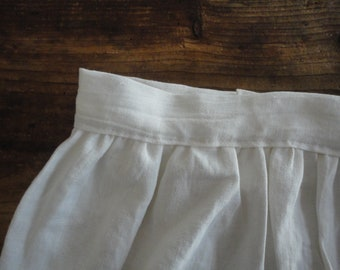 soft linen SKIRT (short, midi, long) with button behind, handmade from soft midi weight linen in different colors