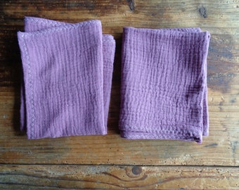 colored soft wash MITTEN / glove, face CLOTH or TOWEL,  handmade from soft colored cotton double gauze