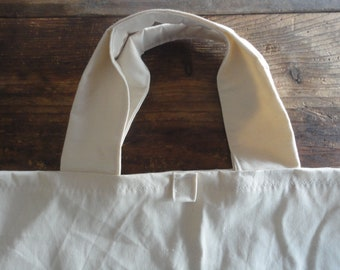 organic cotton TOTE / SHOPPER / summer bag, hand-made from firm organic cotton canvas in creme/off white, blue, brown, rust, black
