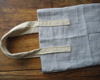 hand-woven COTTON tote with raw-wild silk handles, hand-made from heavy hand-woven cotton and heavy rough raw / wild silk