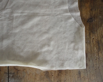 simple cut TOP / TEE, hand made from sheer off white or white organic cotton tulle _ available also in other colors