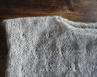 knitted VEST / SWEATER / PULLOVER, hand knitted from natural wool in different colors / natural, grey, creme, beige, antracite, blue, pink,.