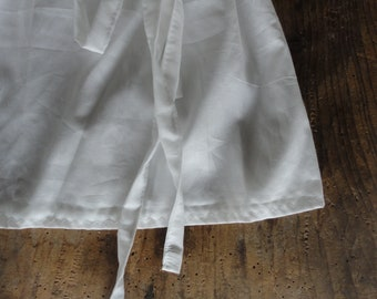 simple cotton tunic TOP / DRESS with straps and tie / belt, hand made from light but firm cotton batiste in white / can be also herbal dyed
